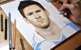 Heather Rooney malt sich einen Lionel Messi