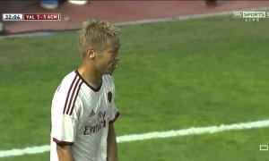 Keisuke Honda mit dem schlechtestem Eckball aller Zeiten
